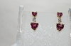 14K Yellow Gold One Of A Kind Pink Heart Cut Tourmaline & Diamond Earrings