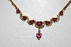 14k Yellow  Gold One Of A Kind  Heart Cut Tourmaline & Diamond Necklace