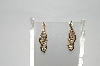 14k Yellow Gold One Of A Kind Channel Set Diamond Earrings