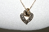 "MBA #80-053  ""14K Yellow Gold Fancy Heart Diamond Pendant With 18"" Chain"