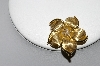 14k Yellow Gold Diamond Flower Pin/Pendant