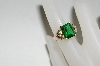 14k Black Hills Gold Green Helenite Ring