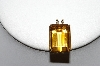 MBA #81-254     14k Yellow Gold Large Square Cut Citrine Pendant