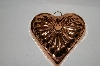 Vintage Heart Shaped Copper Jello Mold