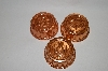 Set Of 3 Unlined Small Round Copper Jello Molds