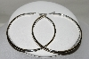 **MBA #84-172   Pair Of Large Thick Sterling Hoops