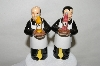"Pair Of ""Waiters"" Salt & Pepper Shakers"