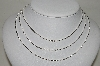 **MBA #86-064   Set Of 3 Sterling Bead Chain Necklaces