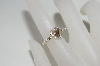 MBA #85-117     14K Yellow Gold Champagne Heart & White Diamond Ring