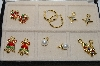 "**MBA #85-113   Interchangeables ""6 Piece Charm Earring Set"""