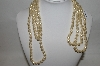 "**MBA #87-236  Kenneth Jay Lane 72"" Endless Simulated Pearl Necklace"
