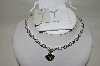 "**MBA #87-256   Steven Lavaggi ""Angel Heart Necklace"""