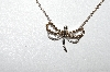 14K White Gold  Champagne & White Diamond Dragonfly Necklace