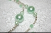 Pale Green Glass Pearls