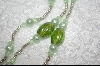 Green Glass Pearls & Crystals