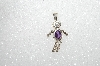 "MBA #S51-006   ""1980's Sterling February  ""Kid"" Boy Pendant"""
