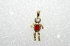 "MBA #S51-649   ""1980's Gold Plated Sterling July Boy Pendant"""