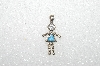 "MBA #S51-064   ""1980's Sterling December ""KID"" Girl Pendant"""