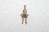 "MBA #S51-050   ""1980's Gold Plated Sterling  September Girl Pendant"""