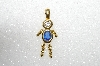 "MBA #S51-682   ""1980's Gold Plated Sterling September Boy Pendant"""
