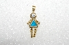 "MBA #S51-675   ""1980's Gold Plated Sterling March Girl Pendant"""