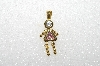 "MBA #S51-065   ""1980's Gold Plated Sterling October Girl Pendant"""