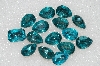 "MBA #S51-307   ""Vintage Lot Of 15 Large Blue Topaz Colored Glass Rhinestones"""
