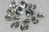 "MBA #S51-328   ""Vintage Lot Of 13 Large Clear Faceted Glass Rhinestones"""