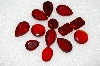 "MBA #S51-277   ""Vintage Lot Of 13 Ruby Red Large Glass Rhinestones"""
