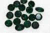"MBA #S51-319   ""Vintage Lot Of 17 Emerald Green Learge Glass Rhinestones"""