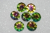 "MBA #S51-297   ""Vintage Lot Of 8 Large Rainbow Colored Rhinestones"""