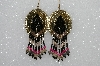 "MBA #S51-391   "" One Of A Kind Hand Made Beaded Concho Earrings"""