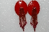 "MBA #S51-421   ""Red Concho Beaded Earrings"""