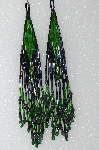 "MBA #S51-439   ""Fancy Hand Beaded Long Earrings"""