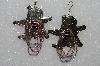 "MBA #S51-565   ""Fancy Star & Boot Concho Hand Beaded Earrings"""