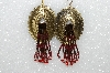 "MBA #S51-499   ""Fancy Concho Hand Beaded Earrings"""