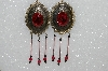 "MBA #S51-476   ""Fancy Concho Pink & Black Earrings"""