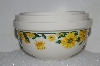 "+MBA #S25-132   ""Fancy Ceramic Set Of 3 Sunflower Mixing Bowls"""