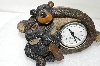 "**MBA #S25-328   ""Fancy Cast Resin Bear Clock"""
