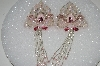 "MBA #S25-120   ""Set Of 2 Pink  Fancy Beaded Appliques"""