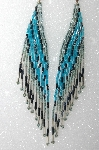 "MBA #S25-102   ""Older Fancy Hand Beaded Earrings"""