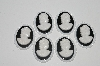 MBA #S25-066   Lot Of 6 Black & White Acrylic Cameos""