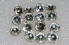 "MBA #S25-258   ""Vintage Lot Of   15 Clear Large Round Foil Backed Rhinestones"""
