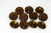 "MBA #S25-229   ""Vintage Lot Of 11 Brown Round Cut Large Glass Rhinestones"""