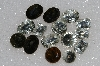 "MBA #S25-274   ""Vintage Lot Of 15 Multi Colored Large Glass Rhinestones"""