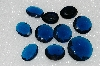 MBA #S25-235 Vintage Lot Of Faceted Large Blue Glass Rhinestones""