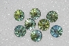 "MBA #S25-265   ""Vintage Lot Of Faceted  Fancy Blue/Green Rhinestones"""