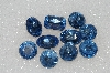 "MBA #S25-247   ""Vintage Lot Of  10  Faceted Large Blue Glass Rhinestones"""