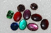 "MBA #S25-271   ""Vintage Lot Of 10 Multi Shades & Cuts Glass Rhinestones"""