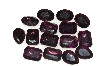 "MBA #S25-199   ""Vintage Lot Of 15 DK Purple Large Faceted Glass Rhinestones"""